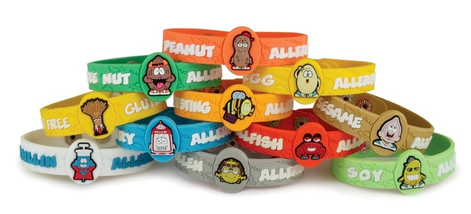 kid allergy bracelet allermates allergy bracelets for toyqueen 7902