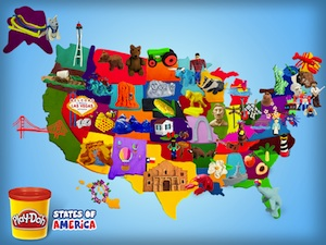 Playdoh Sculpted States of America