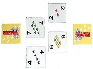 matics, math card game