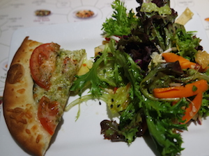 Noodles and Company Pizza Margherita and Chinese Chop Salad
