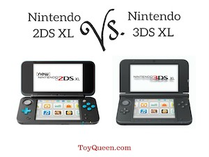 Difference between nintendo 2ds XL vs. nintendo 3ds XL
