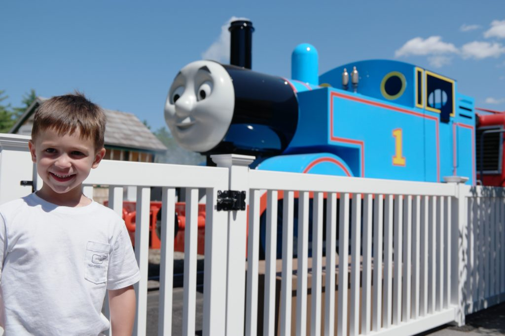 Thomas the train at Edaville Railroad