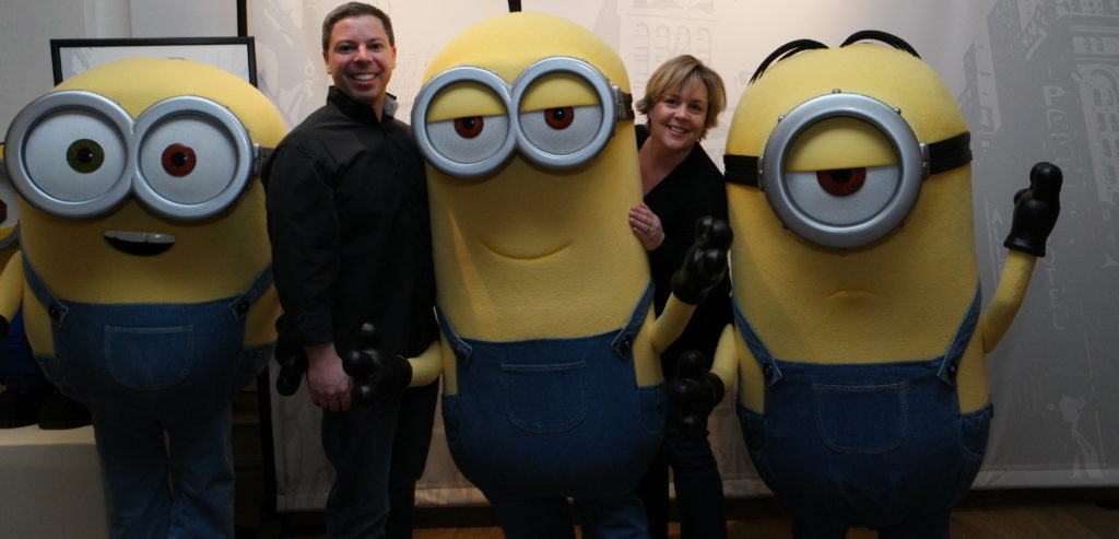 ToyQueen and Minions at Toy Fair